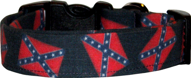 Faded Glory Confederate Rebel Flags Dog Collar