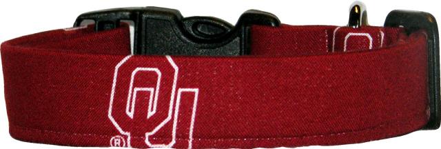 University of Oklahoma Logo Handmade Dog Collar