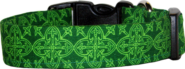 Celtic Knot Medallions #2 Handmade Dog Collar