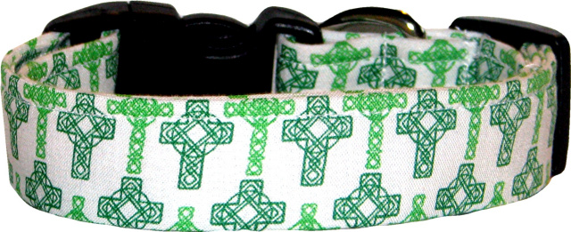 Celtic Cross on White Dog Collar