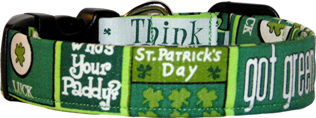 Got Green? St Patrick's Handmade Dog Collar