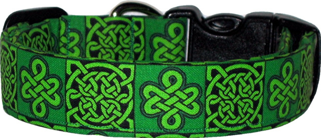 Green Celtic Knot Handmade Dog Collar