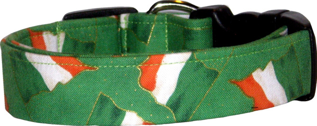 Irish Flags Handmade Dog Collar