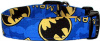 Bright Blue Batman Handmade Dog Collar
