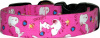 "Hot Pink Little ""Famous Dog"" Dog Collar"