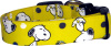Vibrant Yellow Snoopy Dog Collar