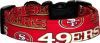 Red San Francisco 49ers Dog Collar